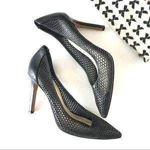 Vince Camuto Black Leather Pumps / Heels